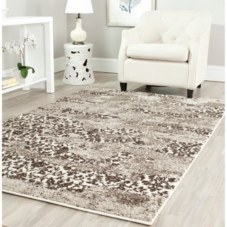 Safavieh Retro Modern Abstract Beige/ Light Grey Distressed Rug (4' x 6')