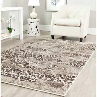 Safavieh Retro Modern Abstract Beige/ Light Grey Abstract Rug (5' x 8')