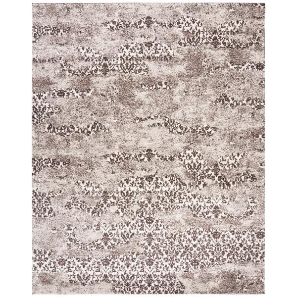 Safavieh Retro Modern Abstract Beige/ Light Grey Distressed Rug - 8' x 10'