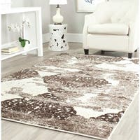 Safavieh Retro Modern Abstract Cream/ Brown Distressed Area Rug (4' x 6') - 4' x 6'