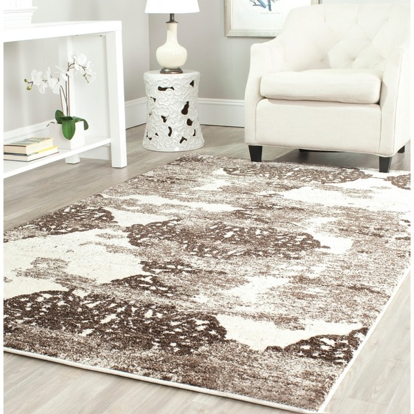 Safavieh Retro Modern Abstract Beige/ Light Grey Rug (5' x 8')