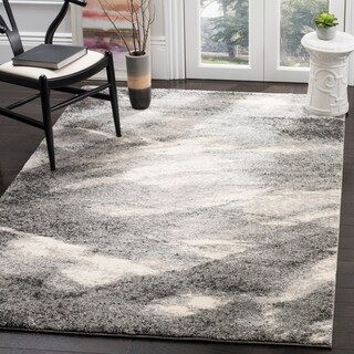 Safavieh Retro Mid-Century Modern Abstract Grey/ Ivory Rug (4' x 6')