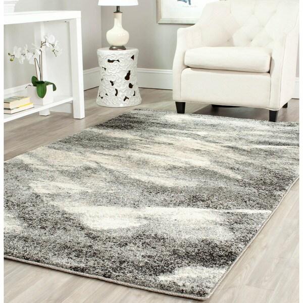 Safavieh Retro Modern Abstract Grey/ Ivory Rug (5' x 8')