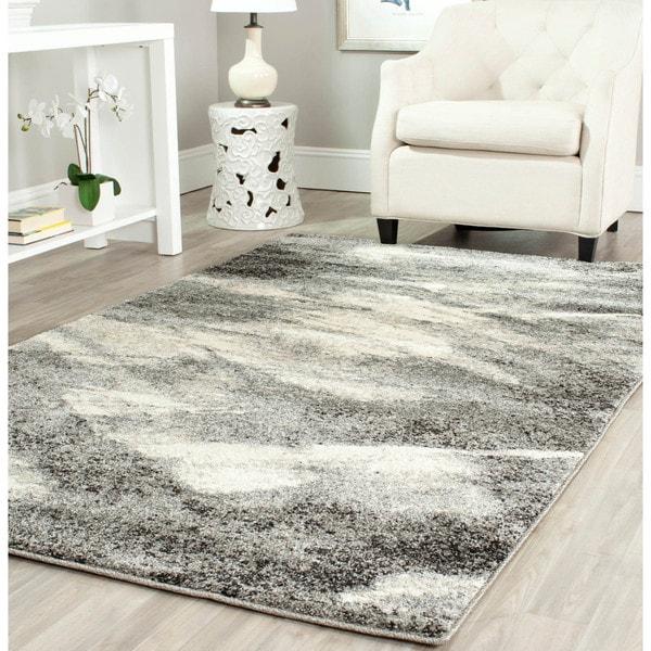 Safavieh Retro Modern Abstract Grey/ Ivory Rug (8' x 10')
