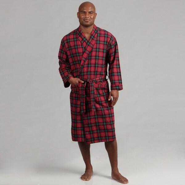 Majestic Men's Flannel Shawl Robe FINAL SALE