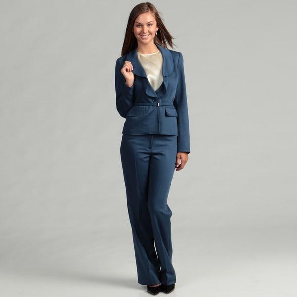 Anne Klein Women's Twilight Ruffle Pant Suit