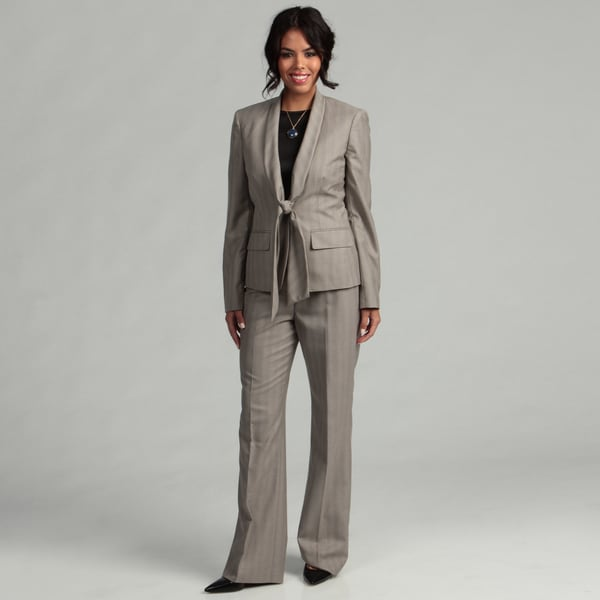 Anne Klein Women's 1-button Shawl Collar Pant Suit