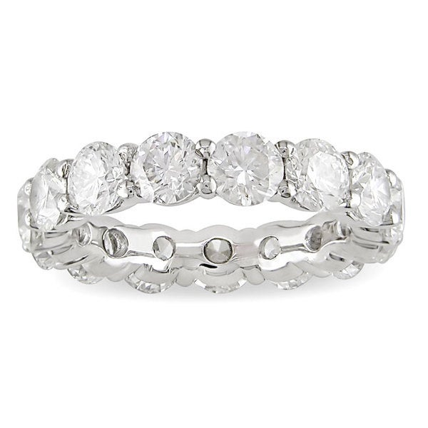 Miadora 18k White Gold Certified 5ct TDW Diamond Eternity Band (H-I, I1-I2)