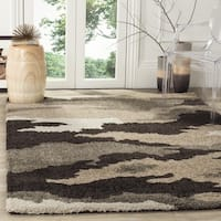 Safavieh Camouflage Shag Beige/ Multicolored Rug - 3'3 x 5'3