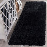 "Safavieh California Cozy Plush Black Shag Rug - 2'3"" x 7'"