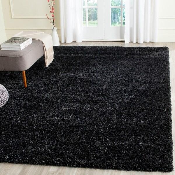 Safavieh California Cozy Plush Black Shag Rug - 8'6 x 12'