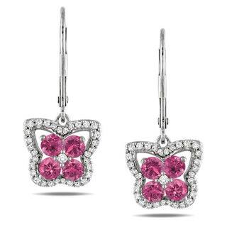 Miadora 14k White Gold 1ct TDW Pink and White Diamond Earrings|https://ak1.ostkcdn.com/images/products/6565770/P14143411.jpg?impolicy=medium
