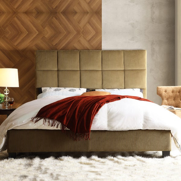 Sarajevo Brown Sugar Corduroy Queen-size Bed