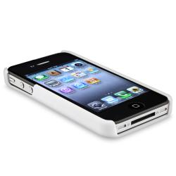 BasAcc Peach Blossom Snap-on Rubber Coated Case for Apple iPhone 4 - Thumbnail 1