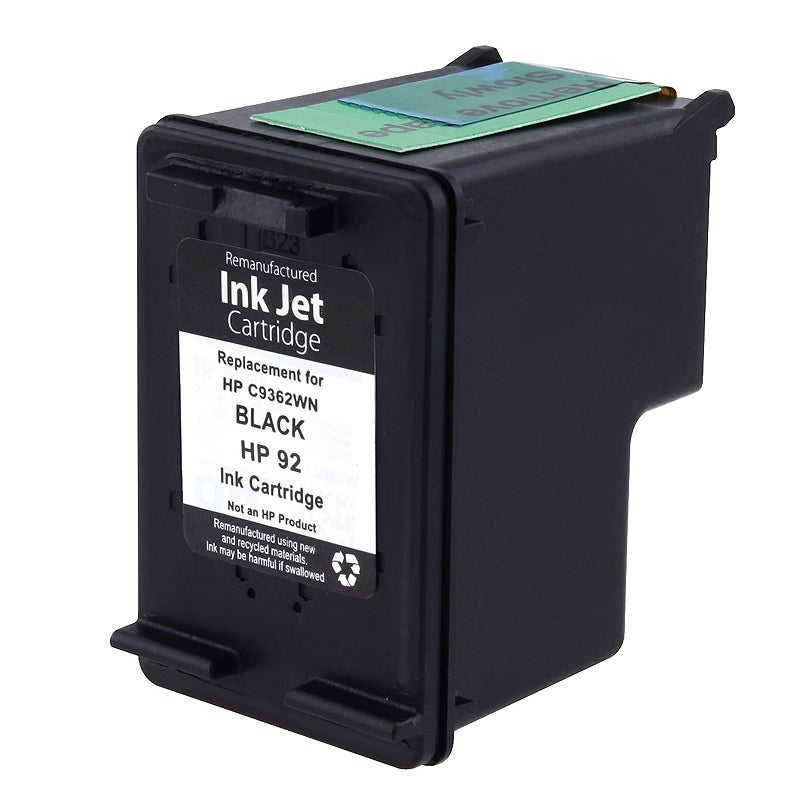 INSTEN HP 92 Black Ink Cartridge (Remanufactured)