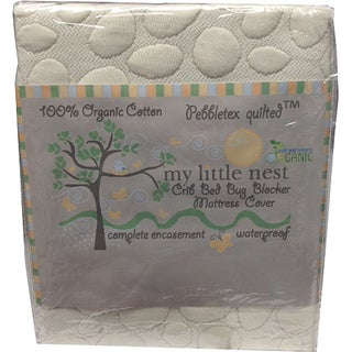 Christopher Knight Home My Little Nest Organic Cotton Pebbletex(TM) Crib Mattress Protector - White