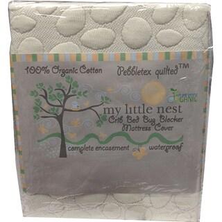 Christopher Knight Home My Little Nest Organic Cotton Pebbletex(TM) Crib Mattress Protector - White
