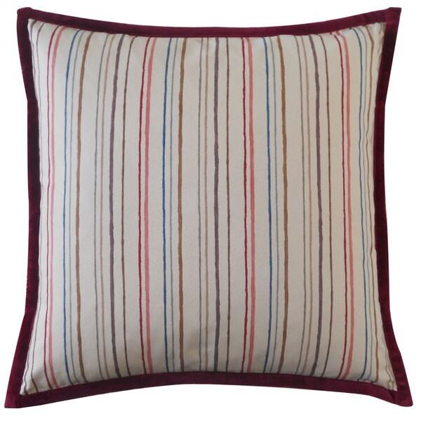 Handmade Alita Stripes Down Throw Pillow