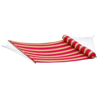 RST Brands Cantina Striped Polyspun Hammock Bed with Bolster Pillow