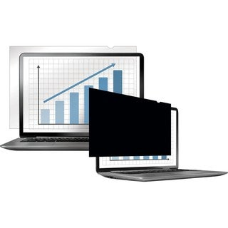 """Fellowes Laptop/Flat Panel Privacy Filter - 15.6"""" W Black"""
