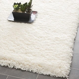 Safavieh Classic Plush Handmade Super Dense Honey White Shag Runner (2'6 x 6')