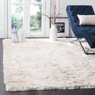 Safavieh Handmade Silken Glam Paris Shag Ivory Rug (7' Square)|https://ak1.ostkcdn.com/images/products/6568386/P14145516.jpg?impolicy=medium