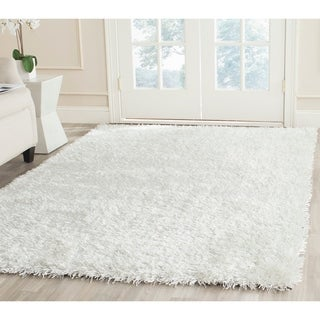 Safavieh Handmade New Orleans Shag Off-White Textured Polyester Area Rug (6' x 9')