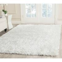 Safavieh Handmade New Orleans Shag Off-White Textured Polyester Area Rug (6' x 9')