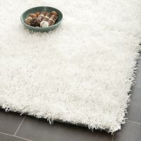 Safavieh Handmade New Orleans Shag Off-White Textured Polyester Square Rug - 7' x 7' Square
