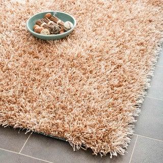 Safavieh Handmade New Orleans Shag Beige Textured Polyester Area Rug (3' x 5')