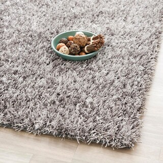 Safavieh Handmade New Orleans Shag Grey Textured Polyester Area Rug (3' x 5')