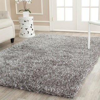 Safavieh Handmade New Orleans Shag Grey Textured Polyester Square Rug (7' Square)