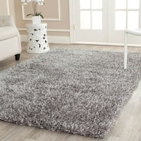 Safavieh Handmade New Orleans Shag Grey Textured Polyester Square Rug - 7' x 7' Square