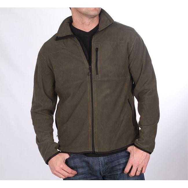 Farmall IH Men&39s Zip-Front Olive Arctic Fleece Jacket - Free