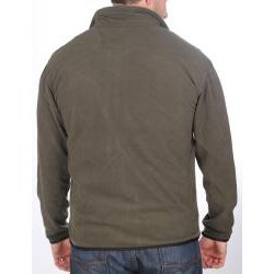 Farmall IH Men's Zip-Front Olive Arctic Fleece Jacket - Thumbnail 1