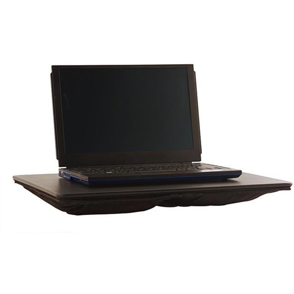Dacasso Black Leather Laptop Desk (17x14)