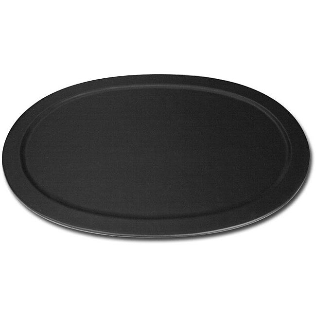 Dacasso Black Leather Serving Tray
