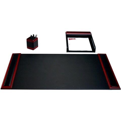 Dacasso Wood & Leather 3-piece Desk Set