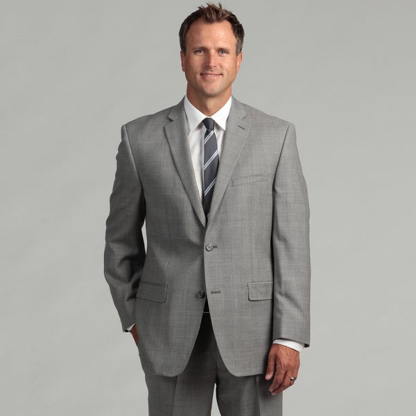 Joseph Abboud Men's Light Grey Two-button Wool Suit