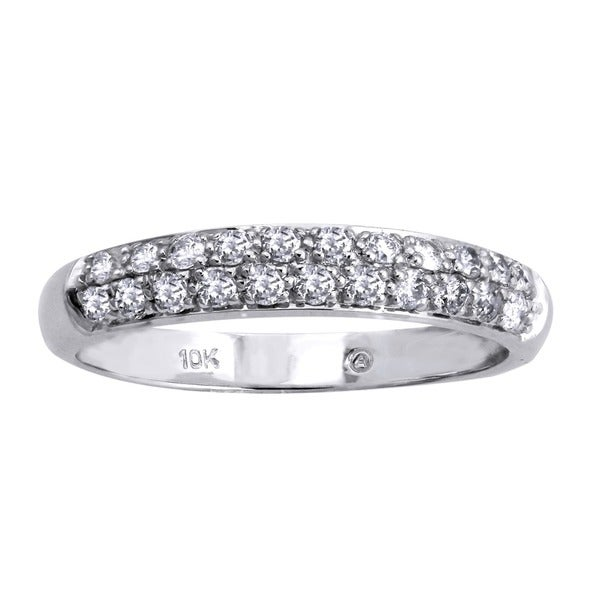 10k White Gold 1/2ct TDW Diamond Band