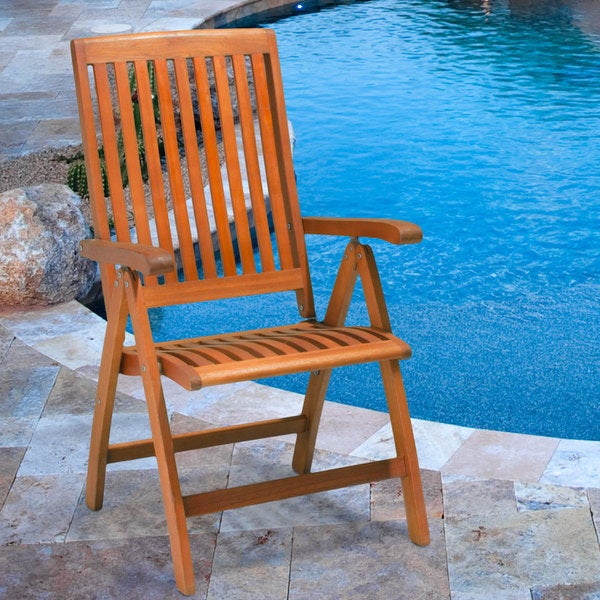Winslow Deluxe Eucalyptus Wood Outdoor Chairs (Set of 2) by Christopher Knight Home