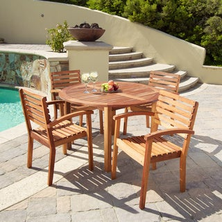 Romano Deluxe Acacia Wood 5-piece Dining Set