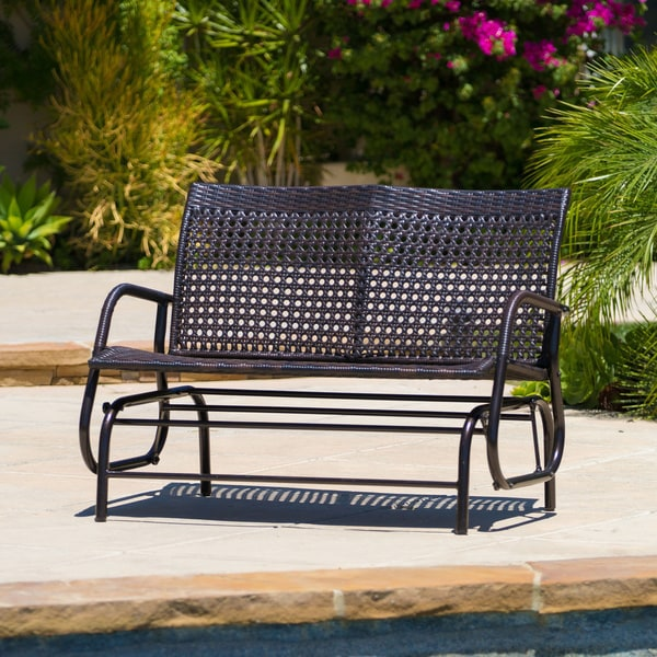 Maui Outdoor Swinging Bench by Christopher Knight Home