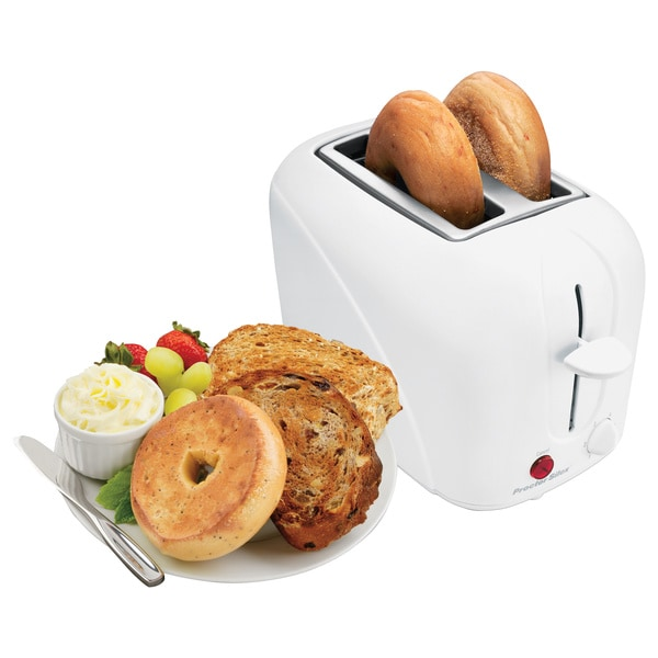 Proctor Silex White 2-slice Toaster - Free Shipping On ...