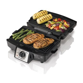 Hamilton Beach Black 110 Sq in Removable Grid Indoor Grill