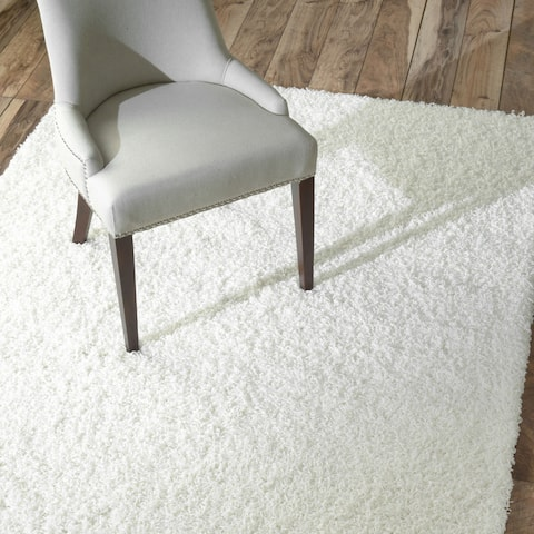 nuLOOM Ultra White Shag Rug (5' x 8') - 5' x 8'