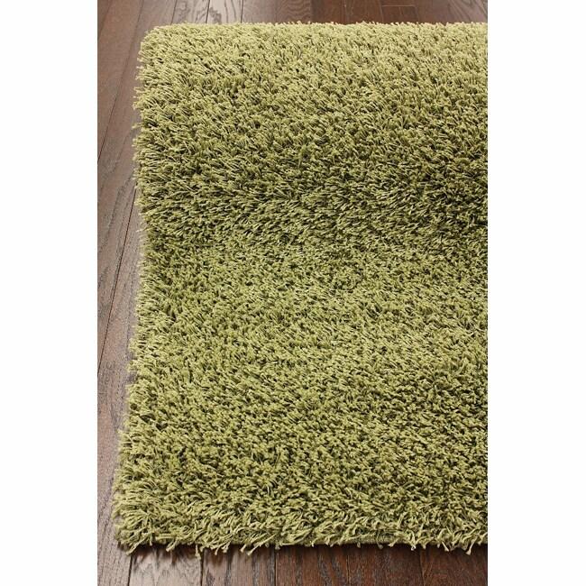 nuLOOM Ultra Green Shag Rug (5' x 8')