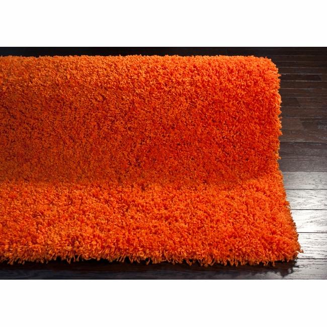 nuLOOM Ultra Orange Shag Rug (8' x 10')