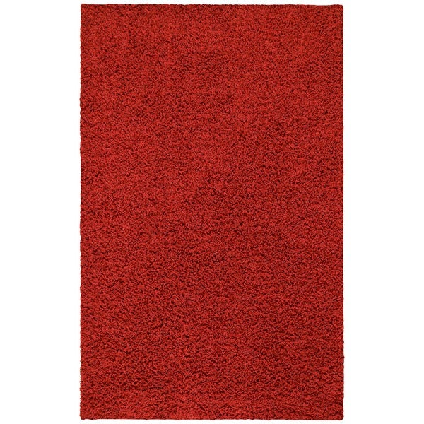 nuLOOM Ultra Red Shag Rug (8' x 10')