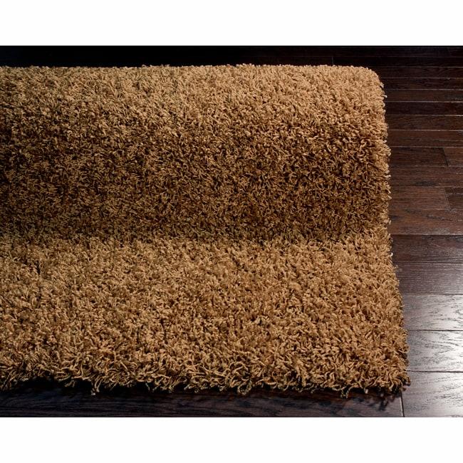 nuLOOM Ultra Brown Shag Rug (8' x 10')